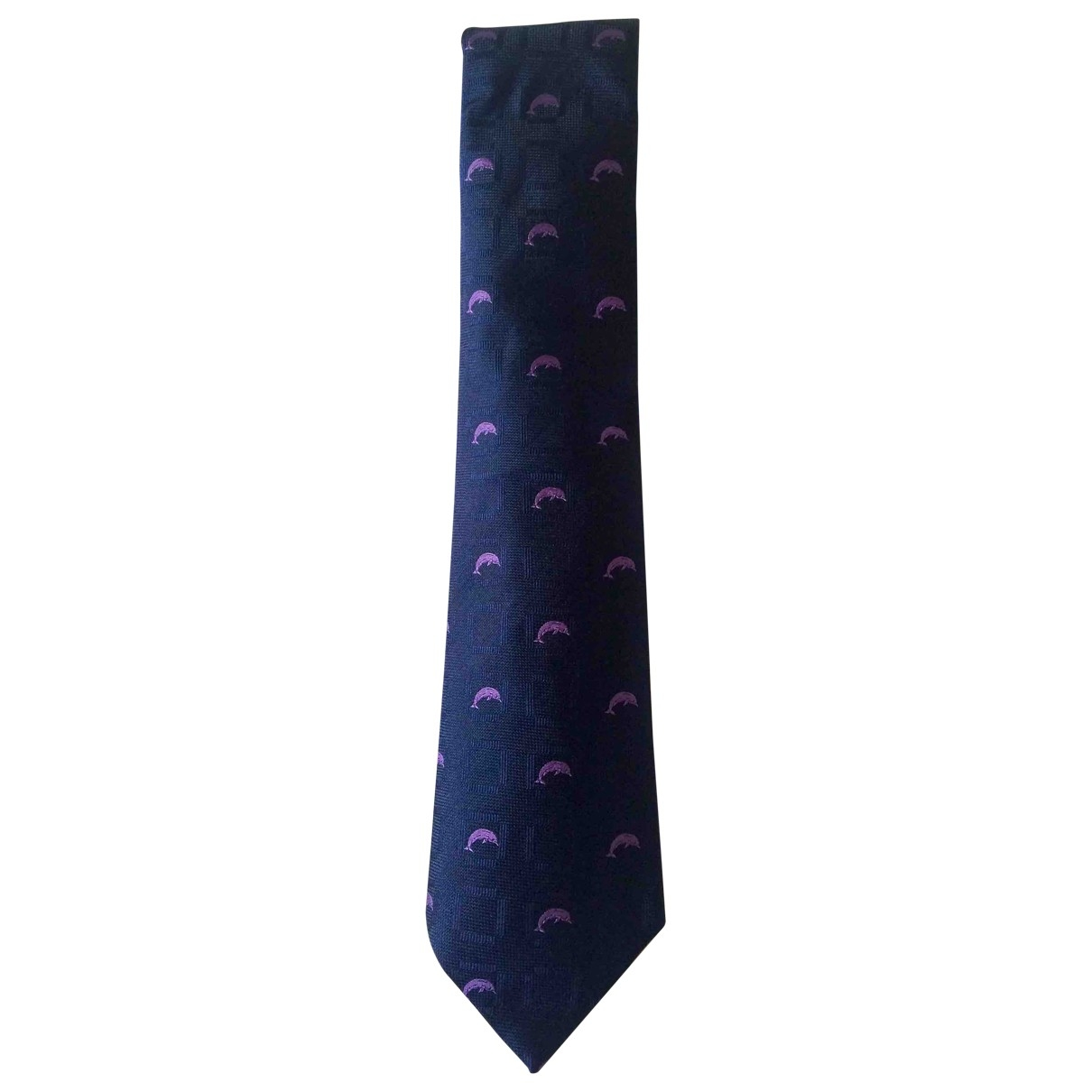 Non Signé / Unsigned \N Blue Silk Ties for Men \N