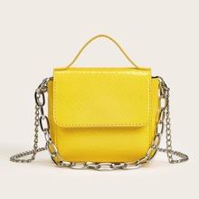 Mini Chain Decor Satchel Bag