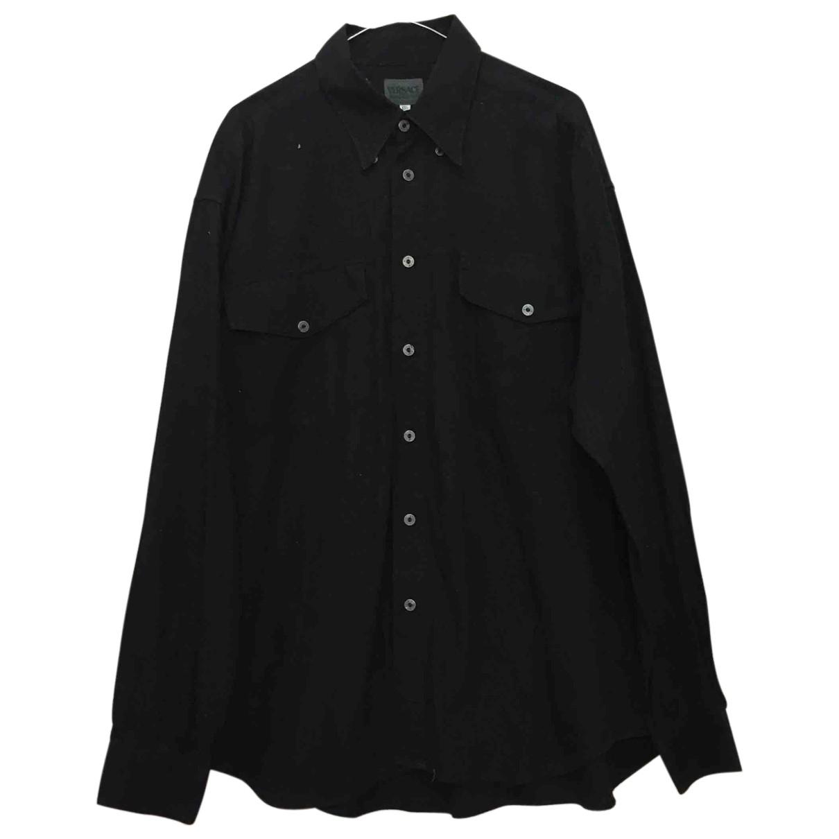 Versace Jean - Chemises   pour homme en coton - noir