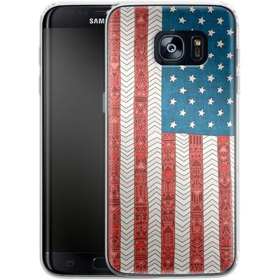 Samsung Galaxy S7 Edge Silikon Handyhuelle - USA von Bianca Green