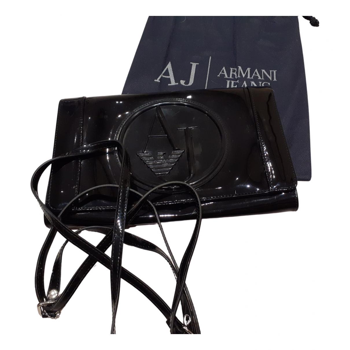 Armani Jeans \N Clutch in  Schwarz Lackleder