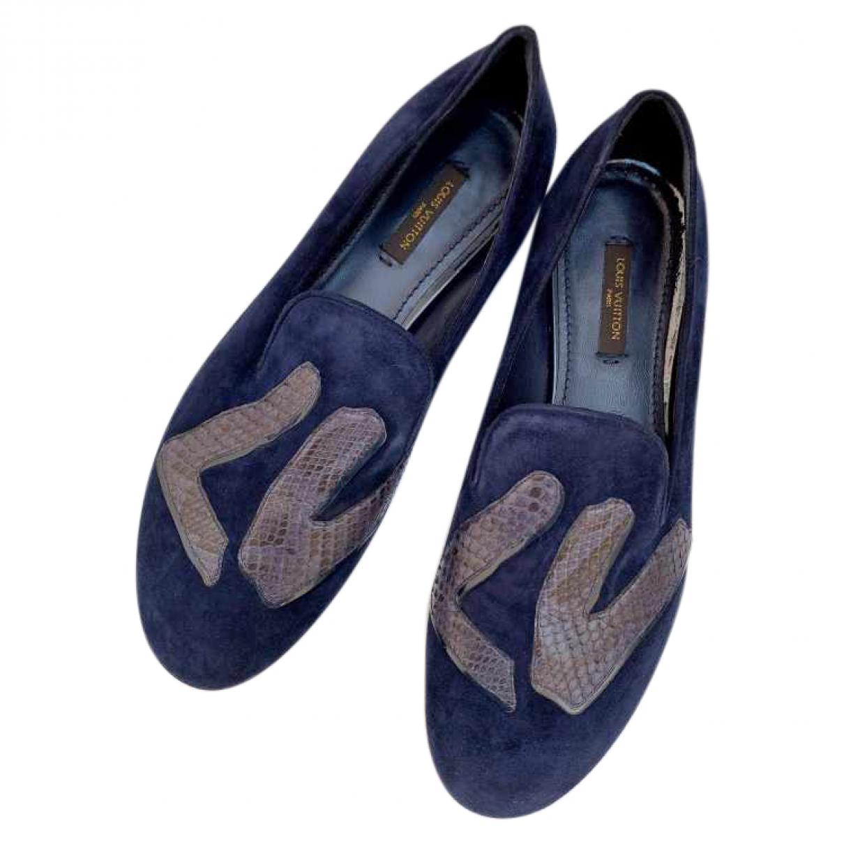 Louis Vuitton \N Espadrilles in  Blau Veloursleder