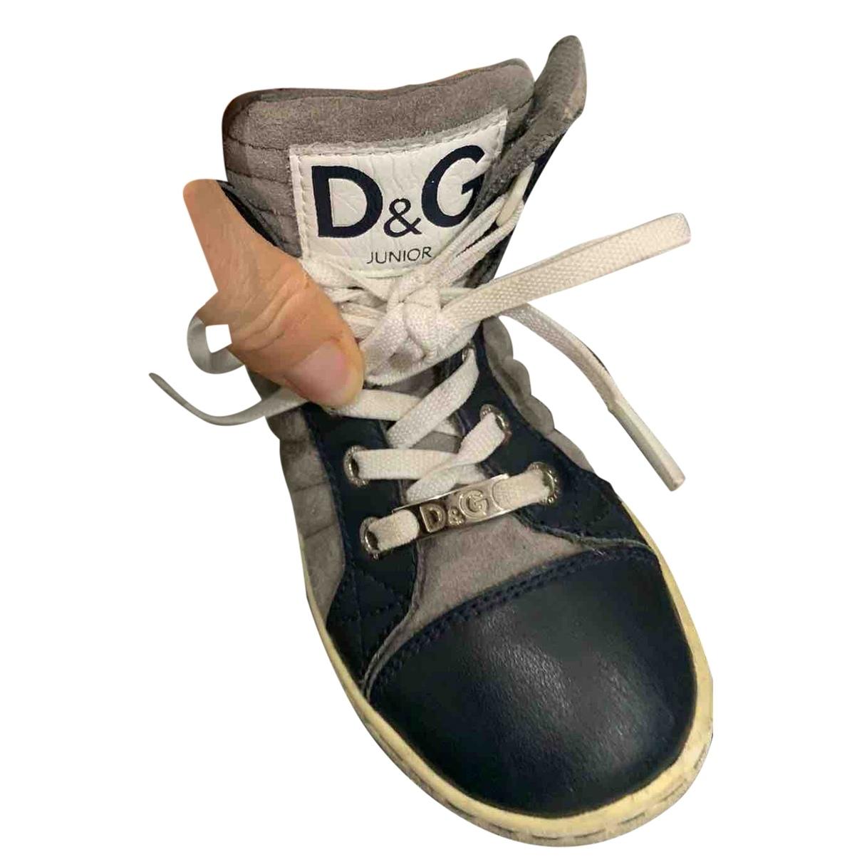 Dolce & Gabbana \N Beige Leather Trainers for Kids 25 EU