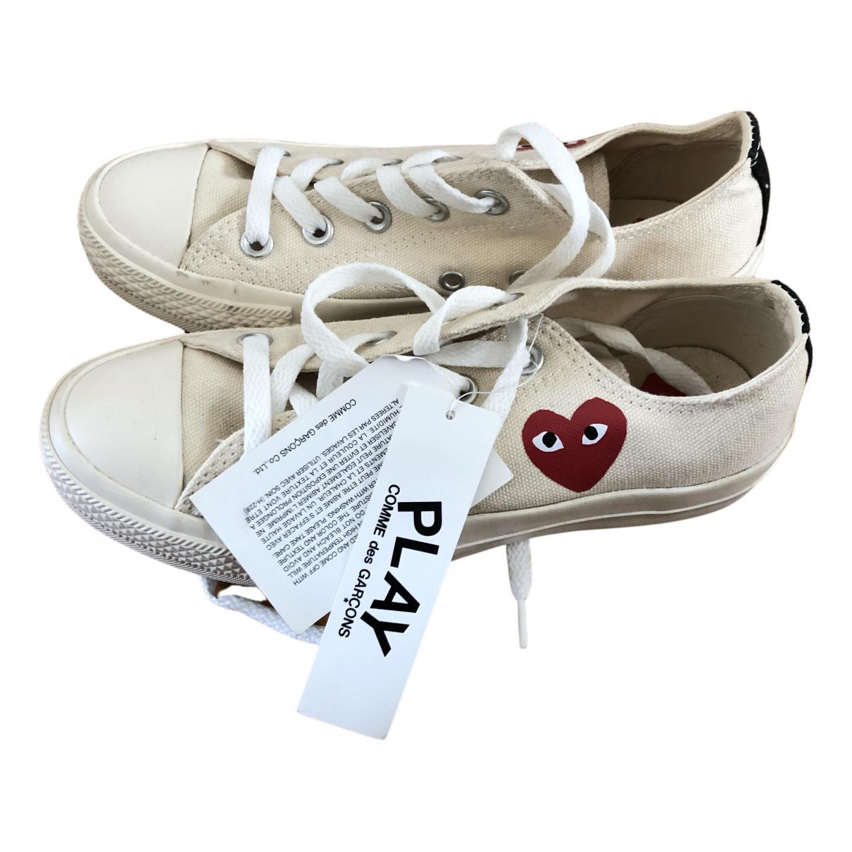 Converse X Play Comme Des Garcons - Baskets   pour femme en toile - beige
