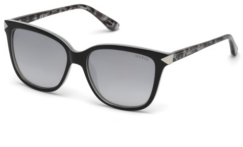Guess Women's Mirrored Gu7551 GU7551-01C-56 Black Rectangle Sunglasses