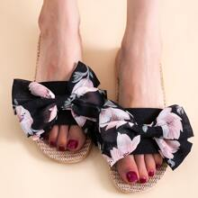 Bow Decor Slippers