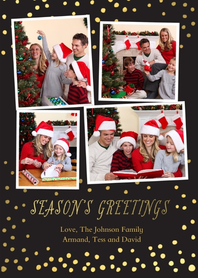Holiday Photo Cards 5x7 Cards, Standard Cardstock 85lb, Card & Stationery -Gold Dot Greetings