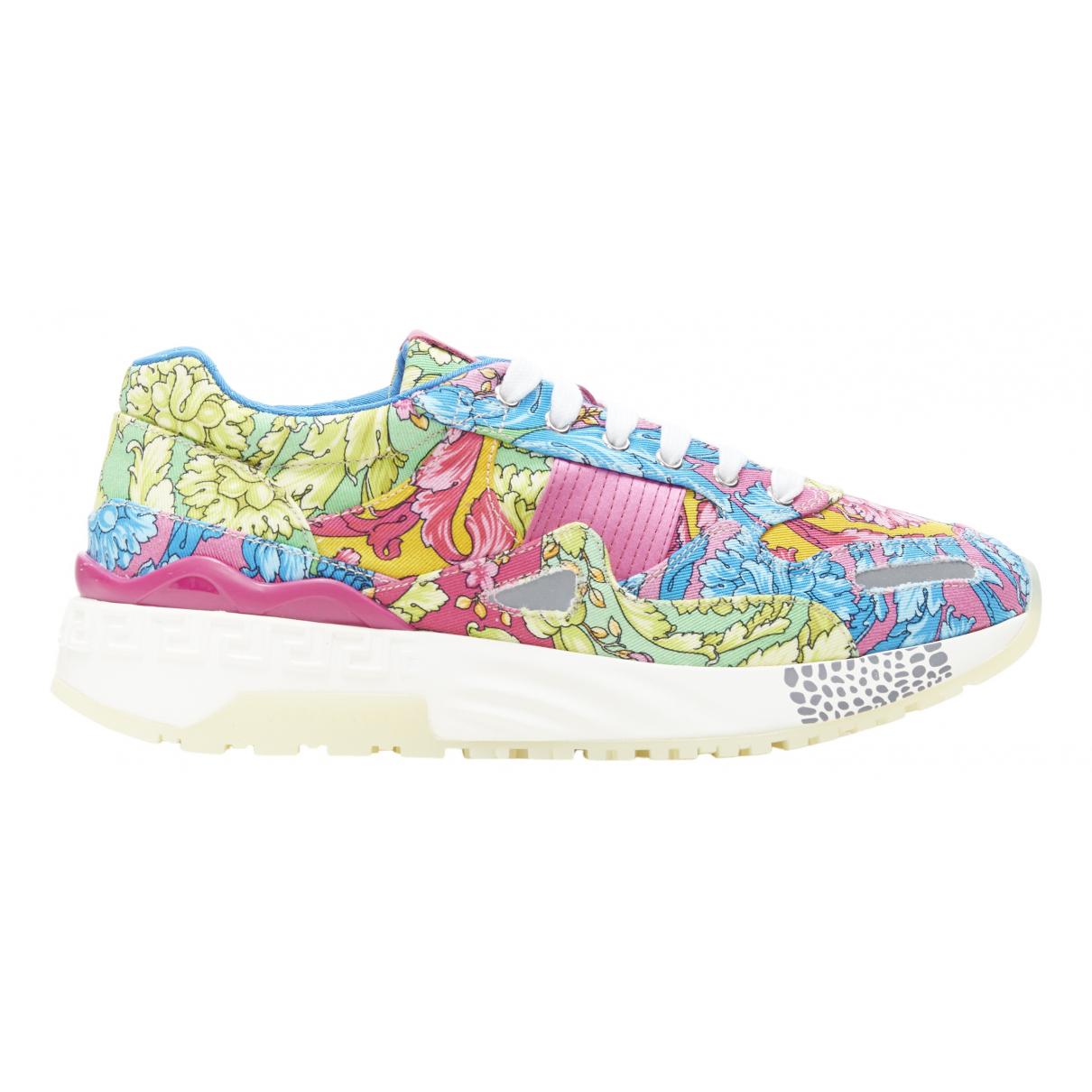 Versace \N Sneakers in  Bunt Leinen