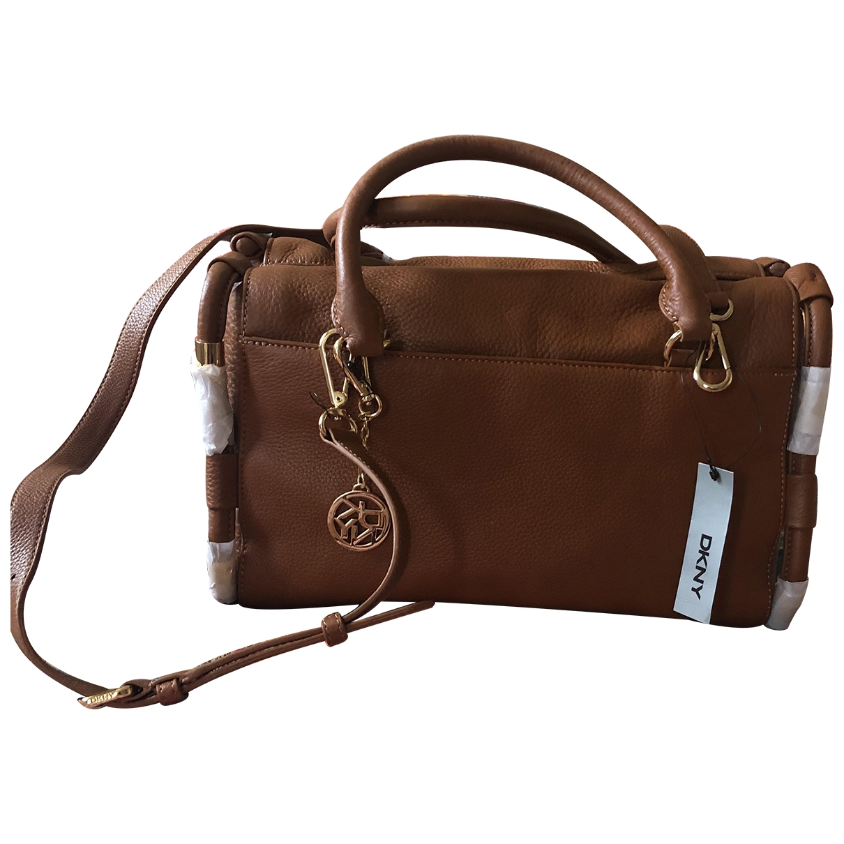 Dkny \N Camel Leather handbag for Women \N
