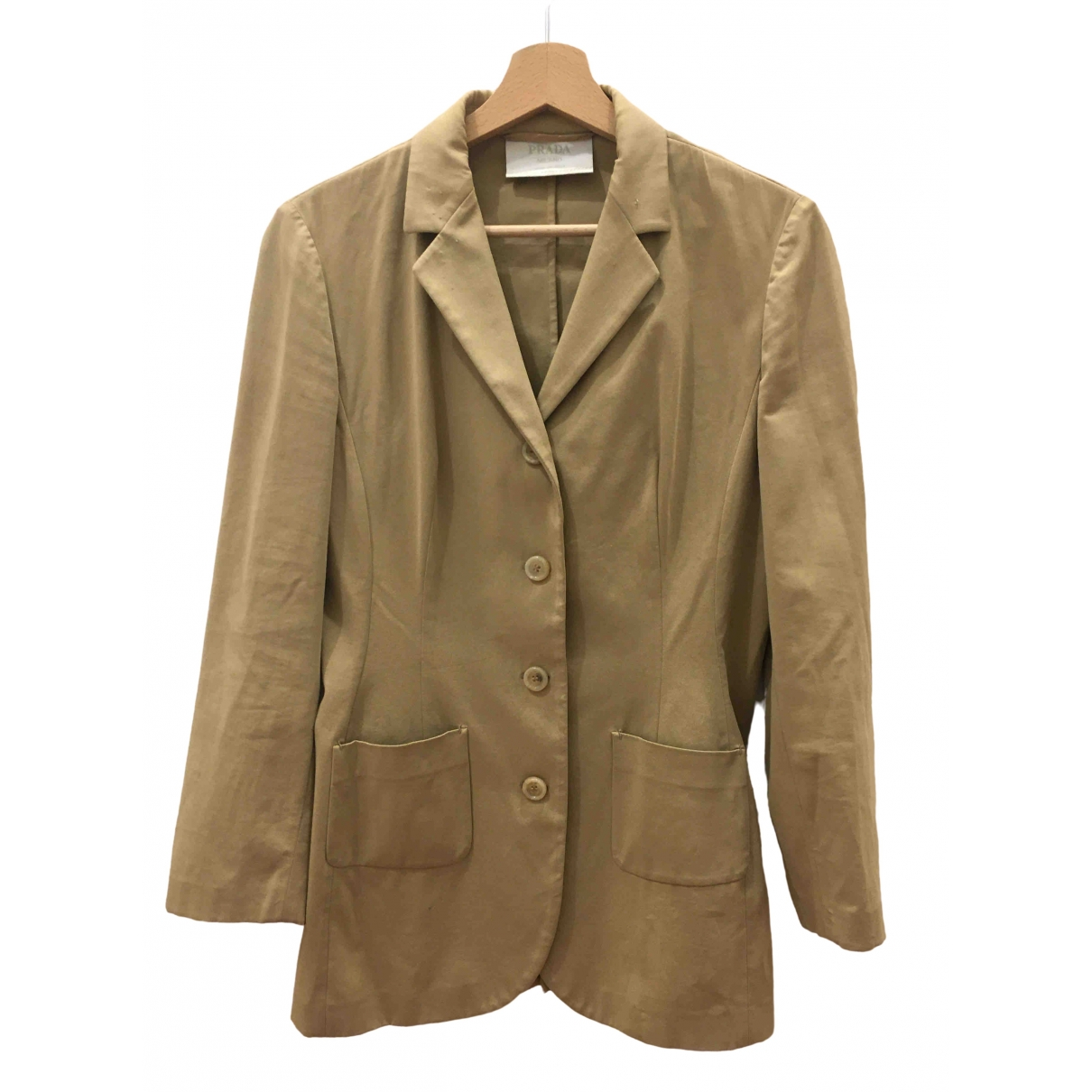 Prada \N Beige Cotton jacket for Women 44 IT