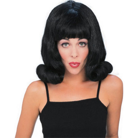 Flip Wig Black Womens Costume, One Size Fits Most , Black