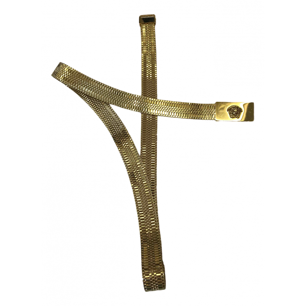 Versace \N Gold Metal belt for Women 31 Inches