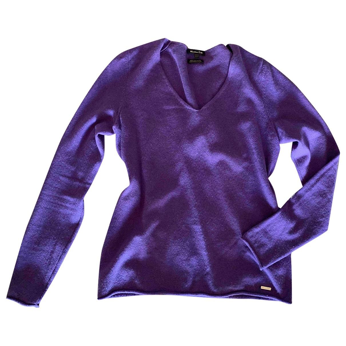 Massimo Dutti - Pull   pour femme en cachemire - violet