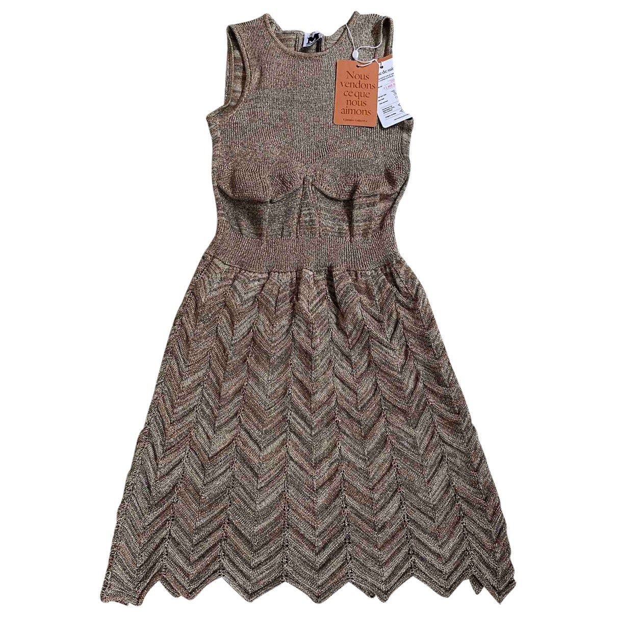 M Missoni \N Kleid in  Gold Baumwolle - Elasthan