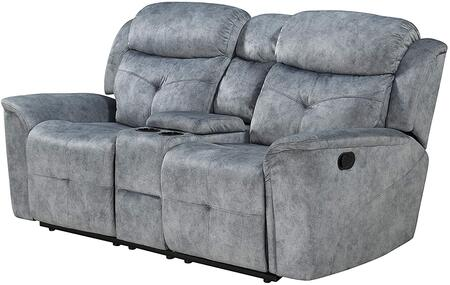 Mariana Collection 55031 Loveseat w/Console (Motion)  Buttonless Tufted  Love with Storage Console w/Cup Holders  External Latch Handle  Tight Back &