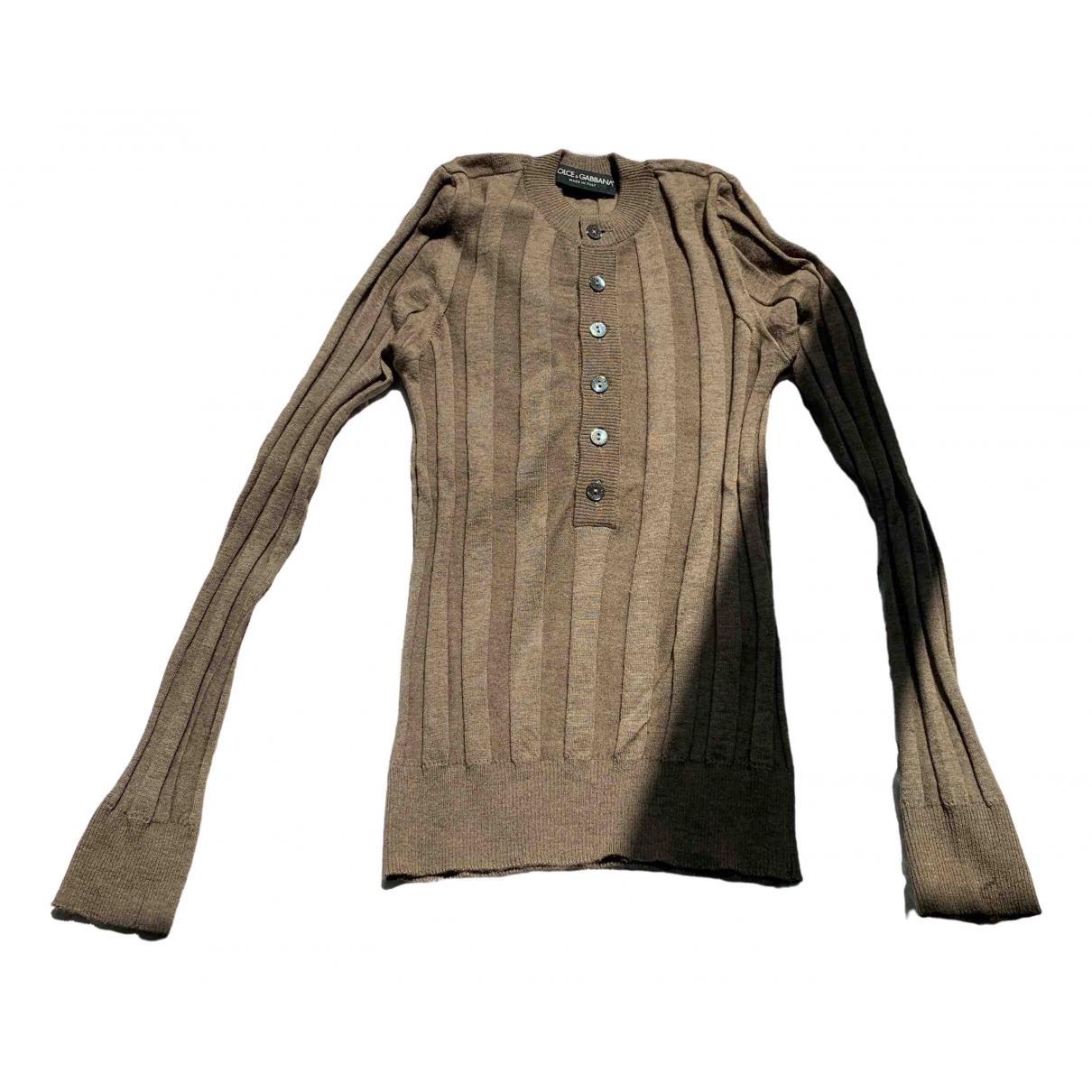 Dolce & Gabbana - Pulls.Gilets.Sweats   pour homme en cachemire - kaki