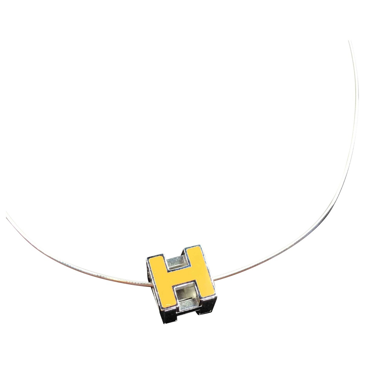 Hermès Cage d'H Silver Metal necklace for Women \N