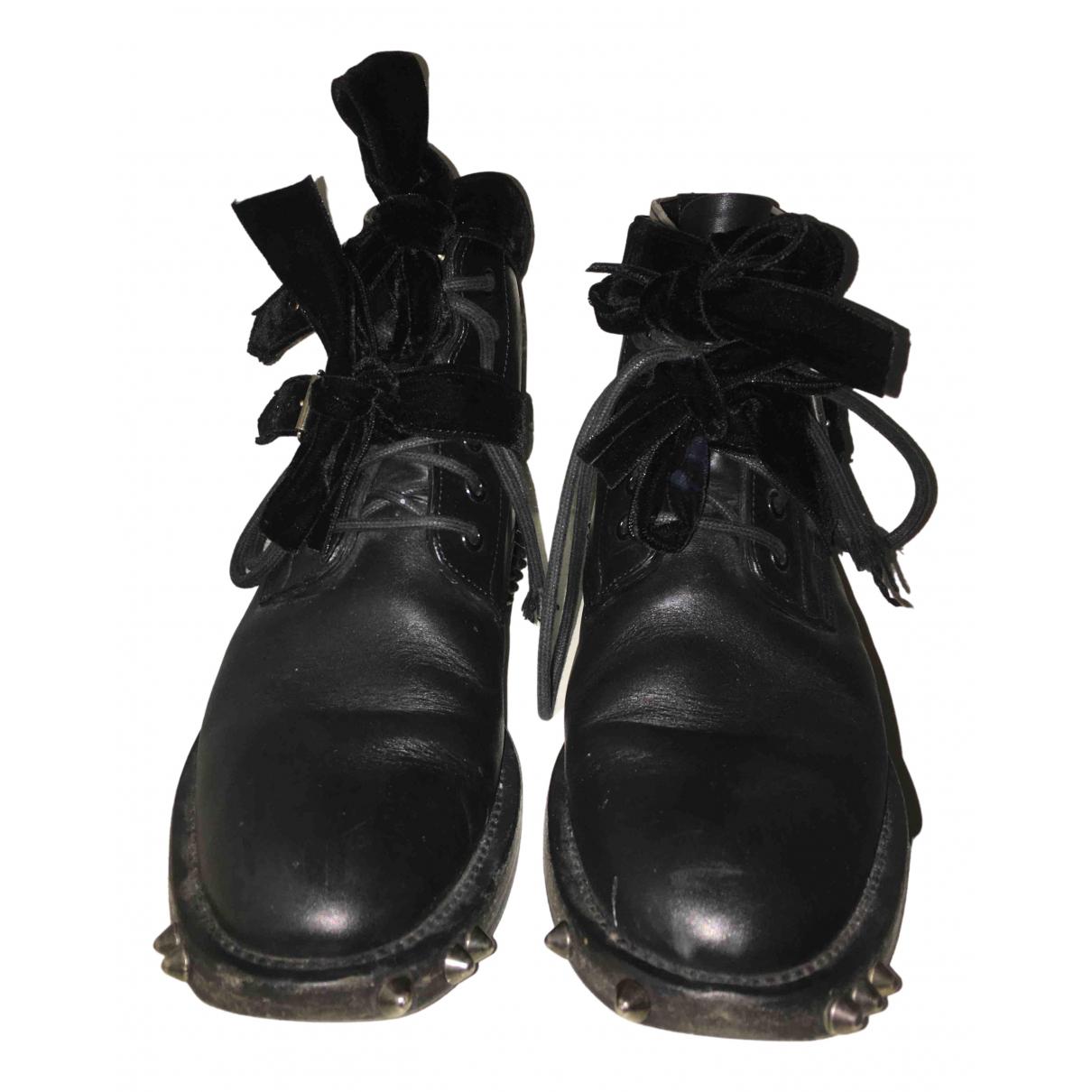 Saint Laurent N Black Leather Boots for Women 41,5 EU