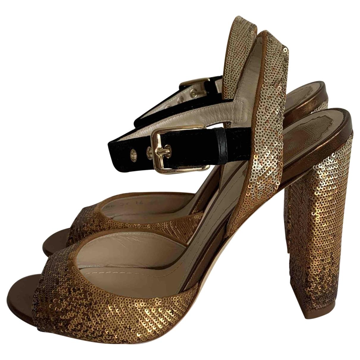 Christian Dior \N Brown Glitter Sandals for Women 38.5 EU