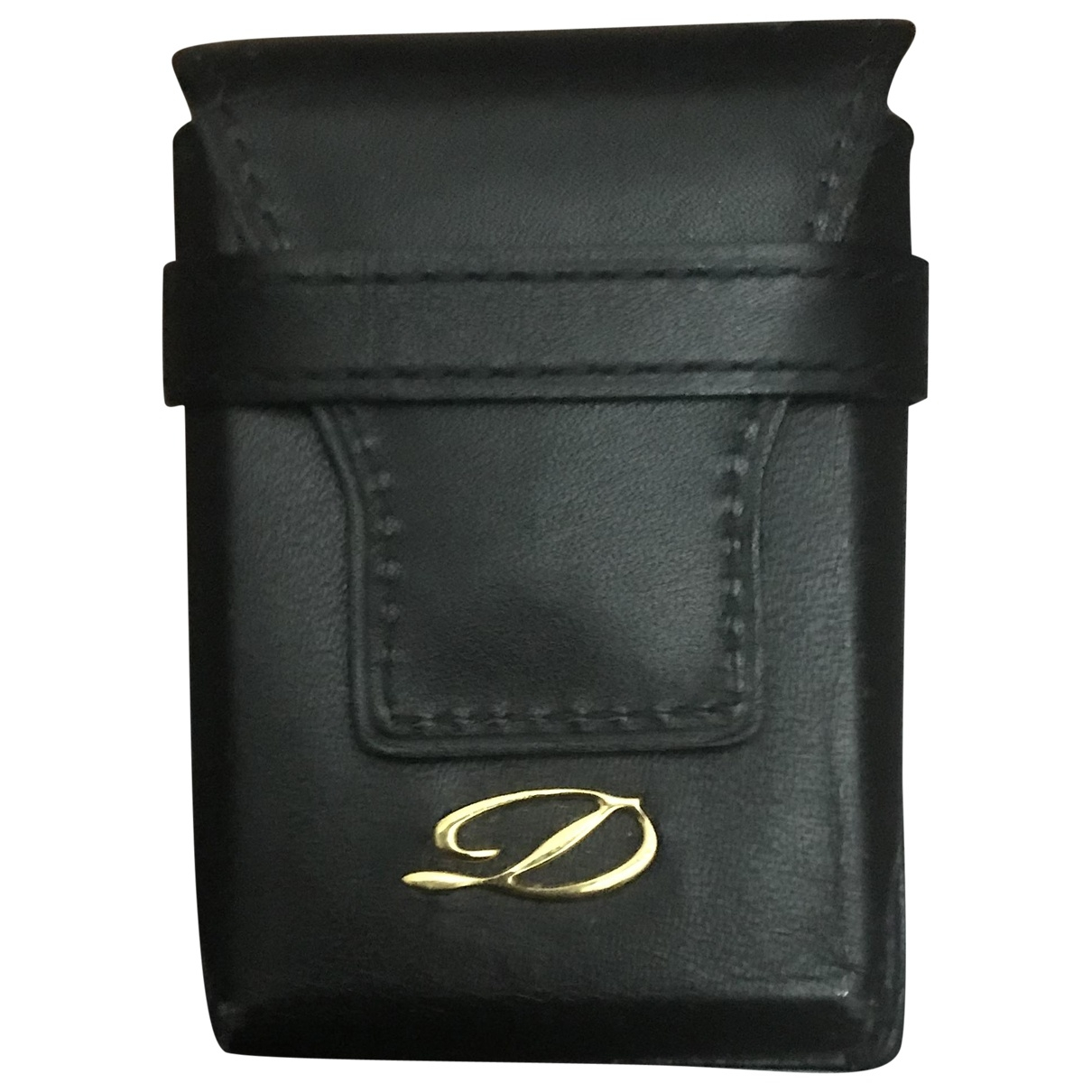 S.t. Dupont \N Black Leather Accessories for Life & Living \N