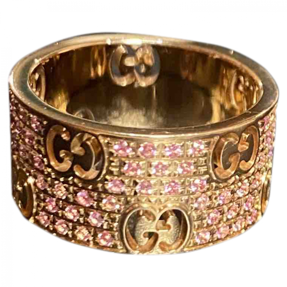 Gucci Icon Pink Pink gold ring for Women 51 EU