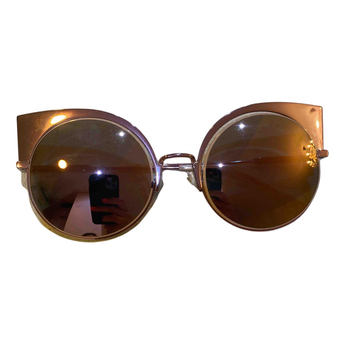 Fendi \N Sonnenbrillen in  Rosa Metall