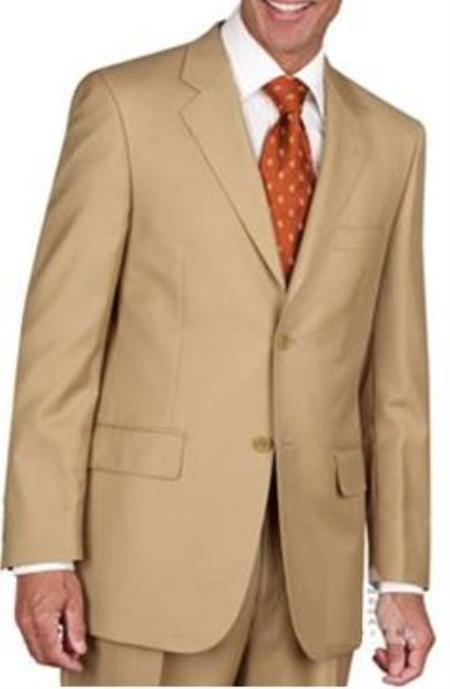 Mens Two Button Suit Gold