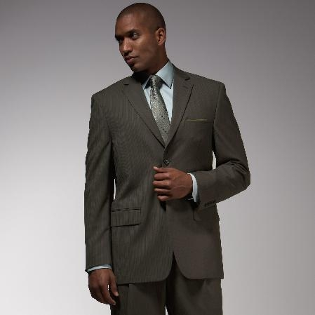 Pinstripe affordable suit online sale