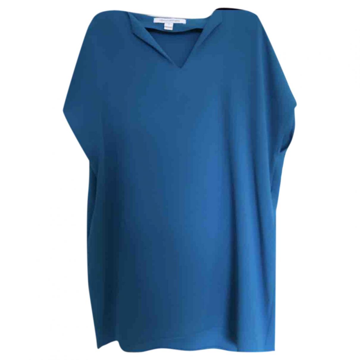 Diane Von Furstenberg \N Kleid in  Blau Seide
