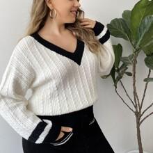 Plus Cable Knit Split Hem Cricket Sweater