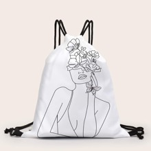 Figure Graphic Drawstring Backpack