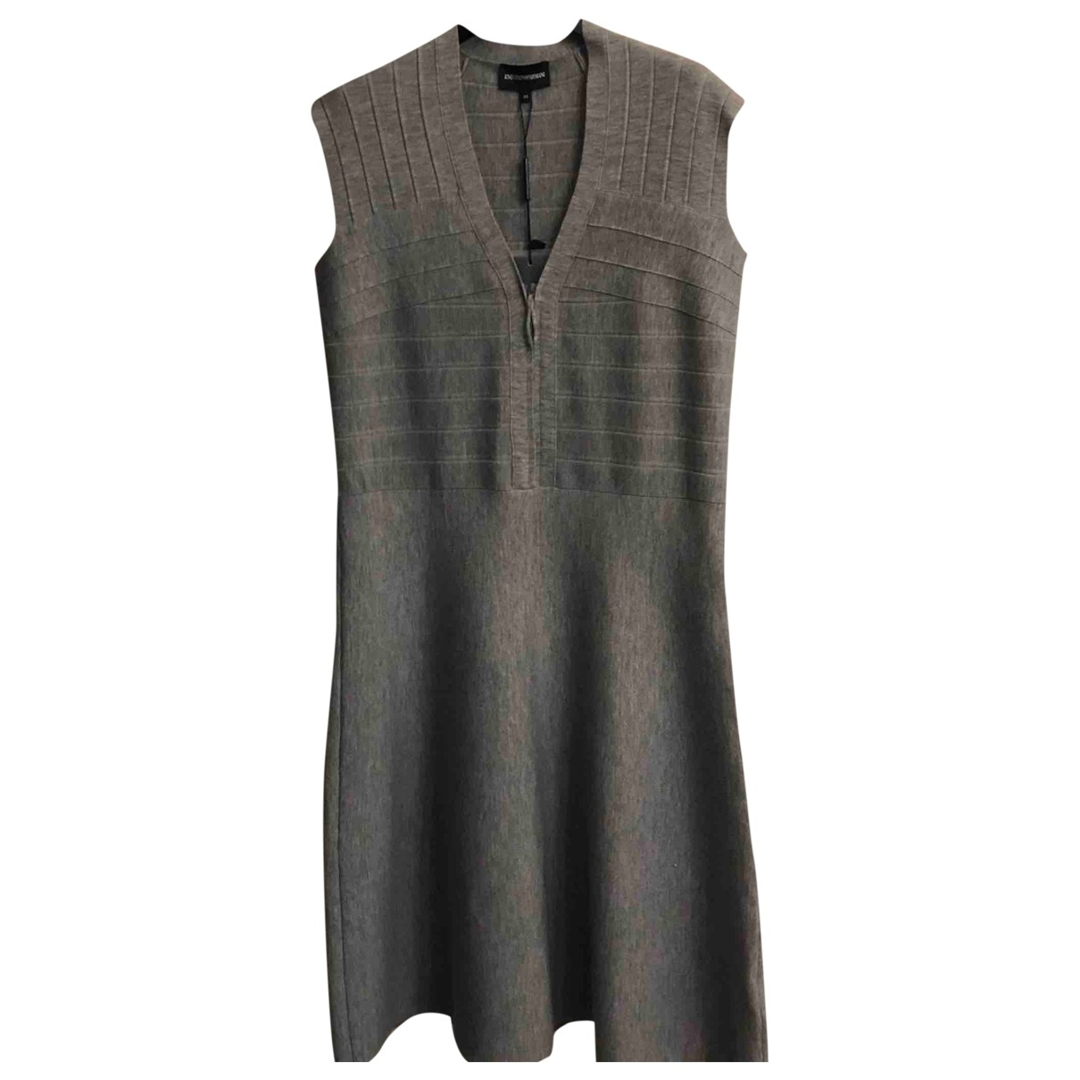 Emporio Armani \N Grey Wool dress for Women 46 IT
