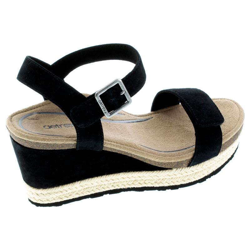 Aetrex Sydney Black Leather High Heel 41