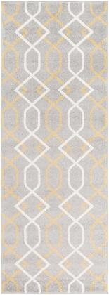 Horizon HRZ-1043 33 x 5 Rectangle Cottage Rug in Medium Gray  Wheat