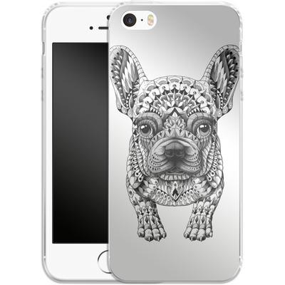 Apple iPhone SE Silikon Handyhuelle - French Bulldog von BIOWORKZ