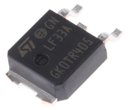 STMicroelectronics LF33ABDT-TR, LDO Regulator, 500mA, 3.3 V, ±1% 3-Pin, DPAK (5)