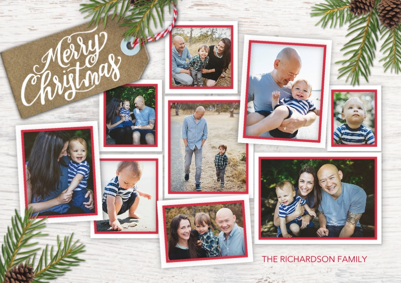 Christmas Photo Cards Flat Matte Photo Paper Cards with Envelopes, 5x7, Card & Stationery -Christmas Memories
