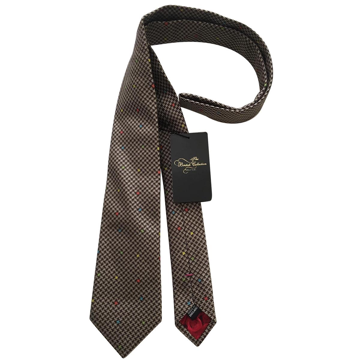 Paul Smith - Cravates   pour homme en soie - marron