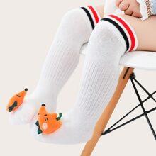 Baby Cartoon Decor Over The Knee Socks