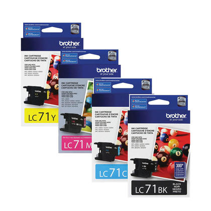 Brother MFC-J430W Original Ink Cartridges Black/Cyan/Magenta/Yellow, 4-Pack Combo