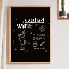 Wandmalerei mit Buchstaben Grafik ohne Rahmen