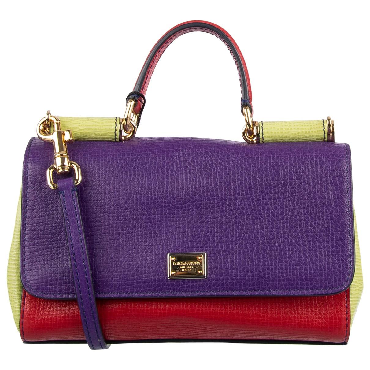Dolce & Gabbana - Sac a main Sicily pour femme en cuir - violet