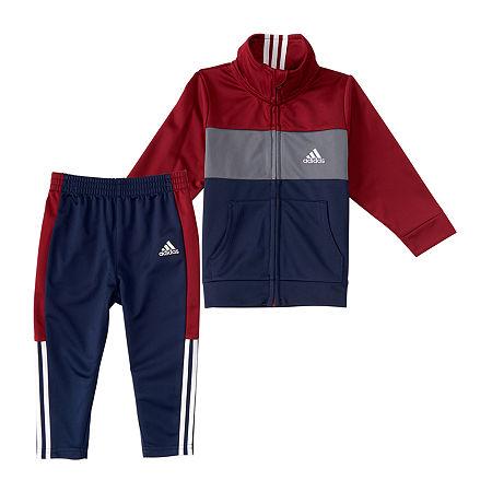 adidas Baby Girls 2-pc. Pant Set, 12 Months , Red