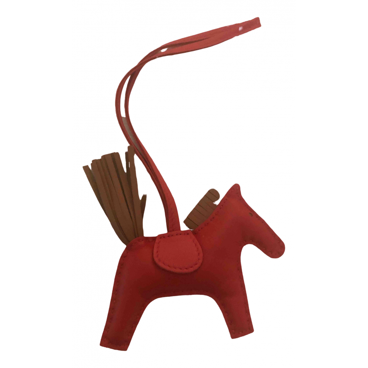 Hermès Rodeo Red Leather Bag charms for Women \N