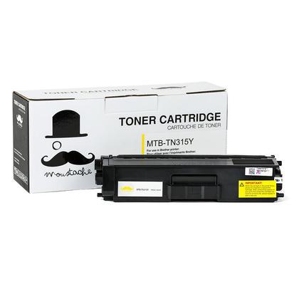 Brother TN315Y cartouche de toner compatible jaune haute capacité - Moustache®