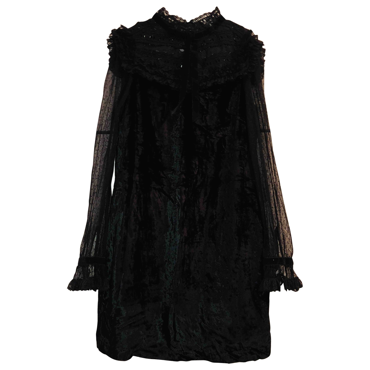 Manoush \N Kleid in  Schwarz Viskose