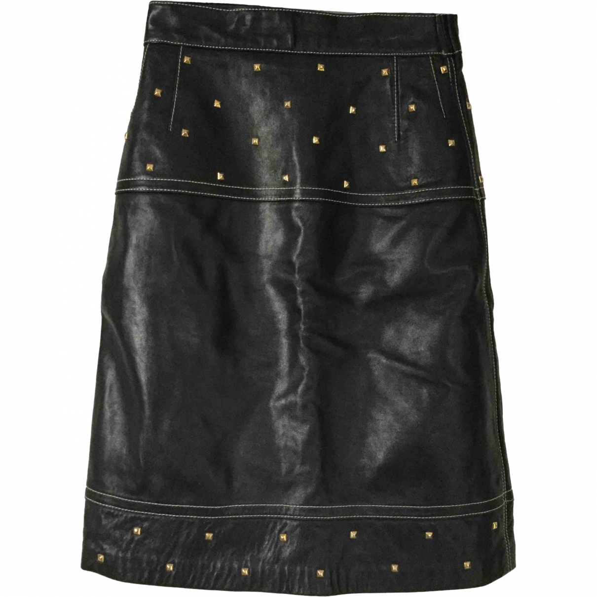Escada \N Black Leather skirt for Women 38 IT