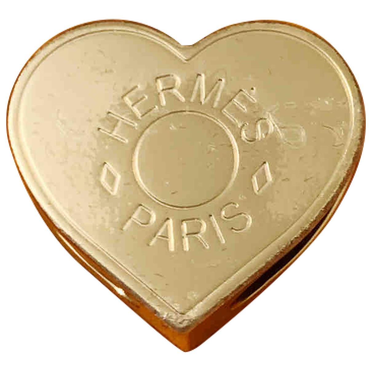 Hermès Anneau de Foulard Gold Metal scarf for Women \N