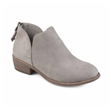 Journee Collection Womens Livvy Booties Block Heel, 12 Medium, Gray
