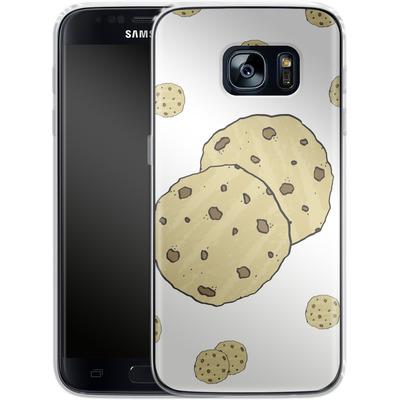Samsung Galaxy S7 Silikon Handyhuelle - Cookies von caseable Designs